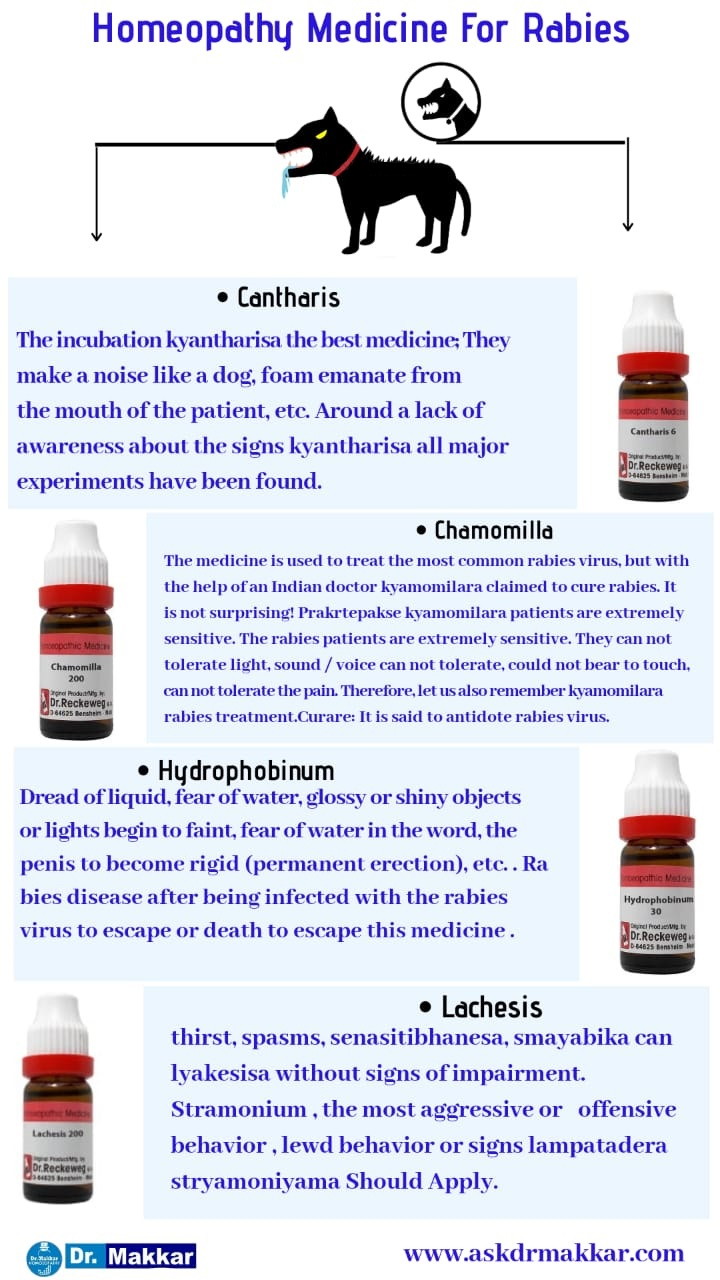 Best Homeopathic medicines for Rabies top natural remedies