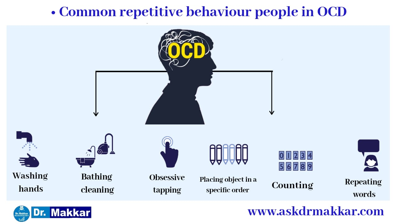 Common Repetitive behaviour in OCD Obsessive Compulsive Disorder