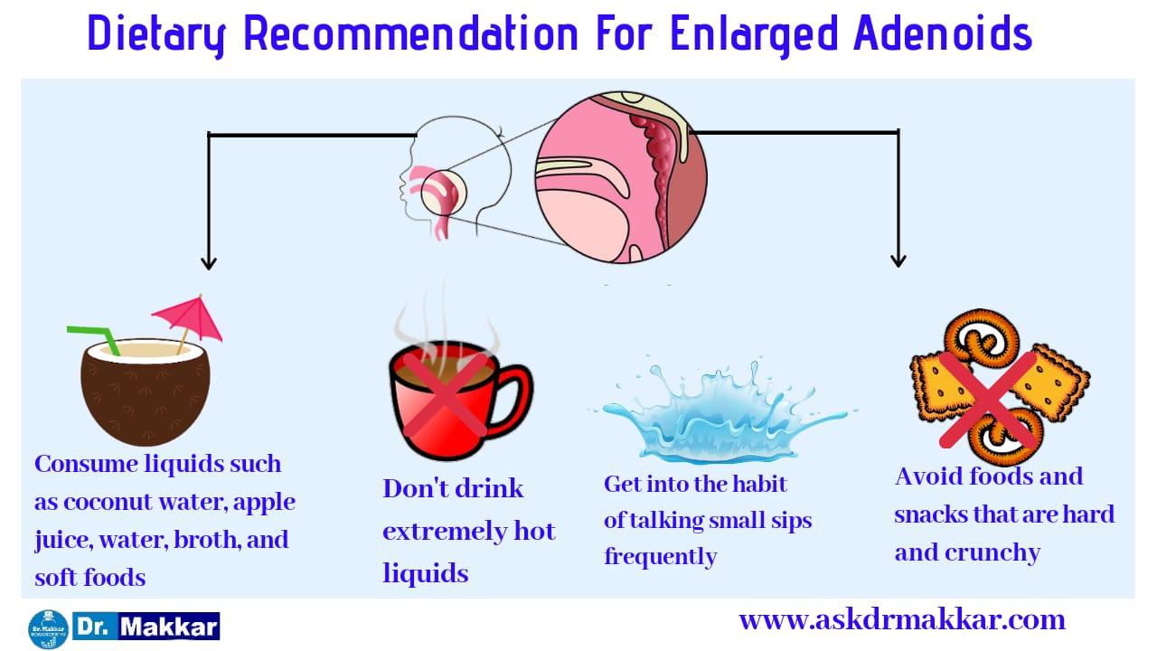 Diet to prevent adenoid facies
