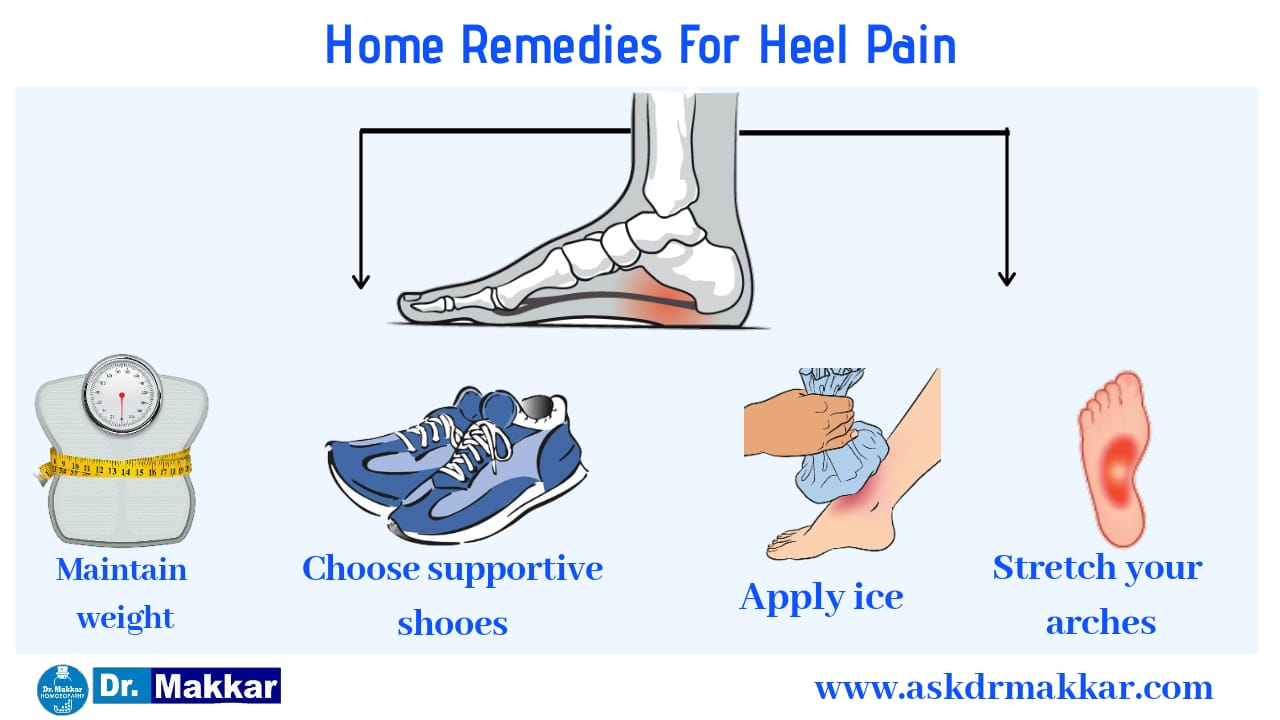 Prevention or self care measure Home remedies for heel pain Calcaneal Spur
