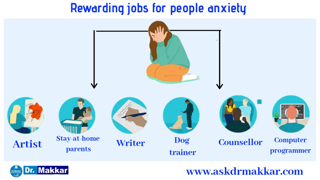 Jobs suitable people suffering from anxiety disorder