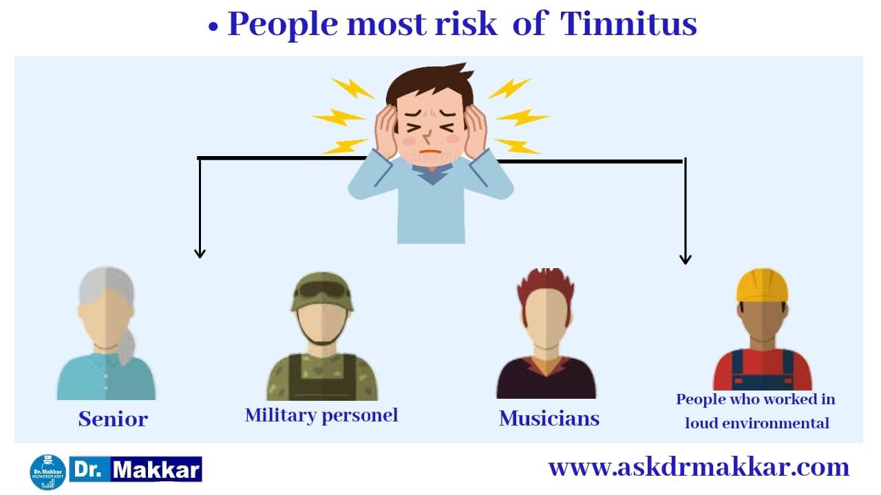 People mostly under high risk of Tinnitus  ||  ज्यादातर लोग टिनिटस के उच्च जोखिम कौन कौन से हैं